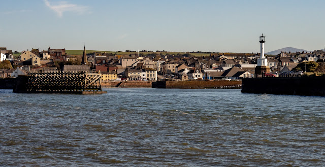 Photo of looking into Maryport Basin from the Solway Firth