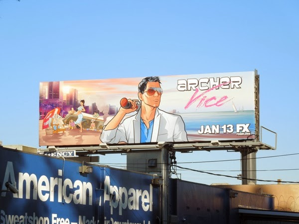 Archer Vice season 5 billboard