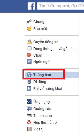 Cách thay đổi chức năng thông báo trong tài khoản Facebook
