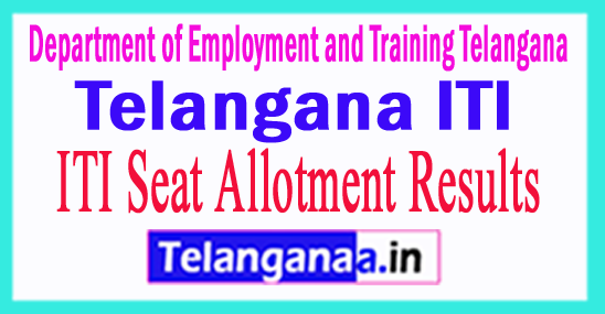 Telangana ITI Seat Allotment 2017 TS ITI Merit List