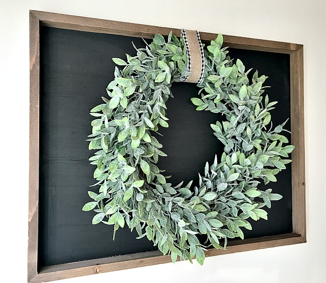 DIY Repurposed Chalkboard with Wreath. Homeroad.net