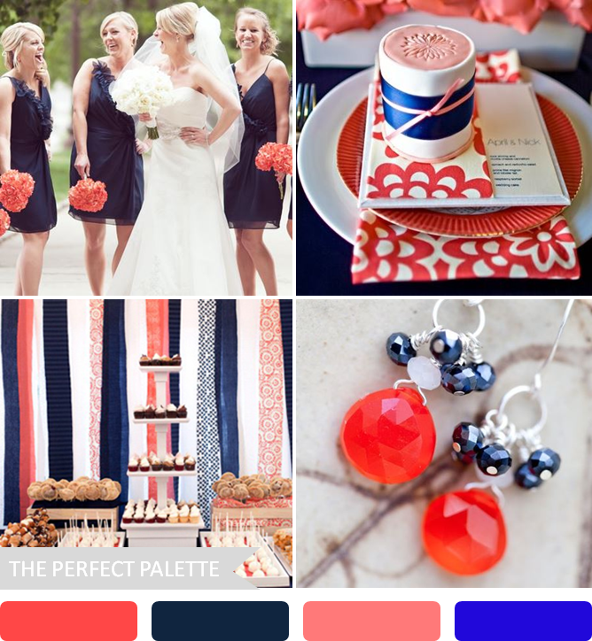 Navy Blue And Coral Wedding: The Perfect Palette