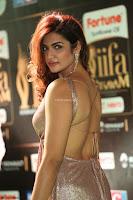 Telugu Actress Aarthi in Deep Neck Backless Golden Gown at IIFA Utsavam Awards 2017 Exclusive 14.JPG