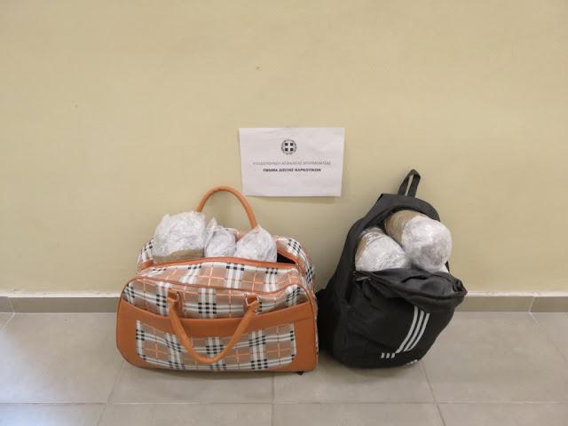 Συνελήφθησαν σε Σαγιάδα και Ηγουμενίτσα με 9 κιλά κάνναβης