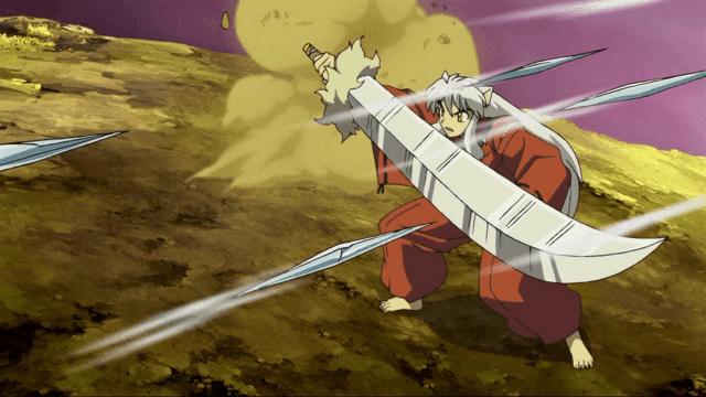 di dalam animenya, tessaiga memiliki beberapa perubahan