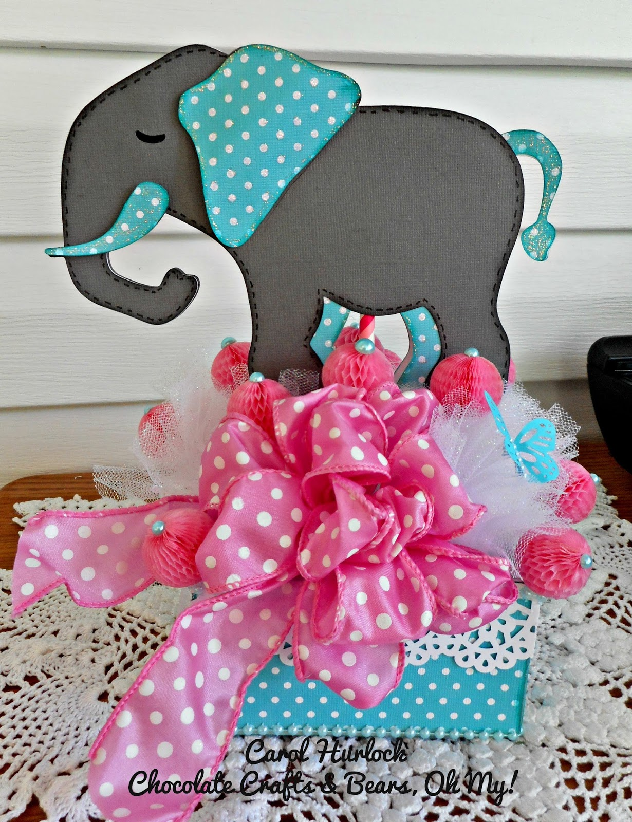 Baby Girl Elephant Baby Shower Centerpieces