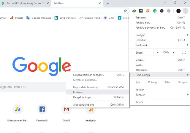cara membuka situs yang diblokir lewat Google Chrome PC
