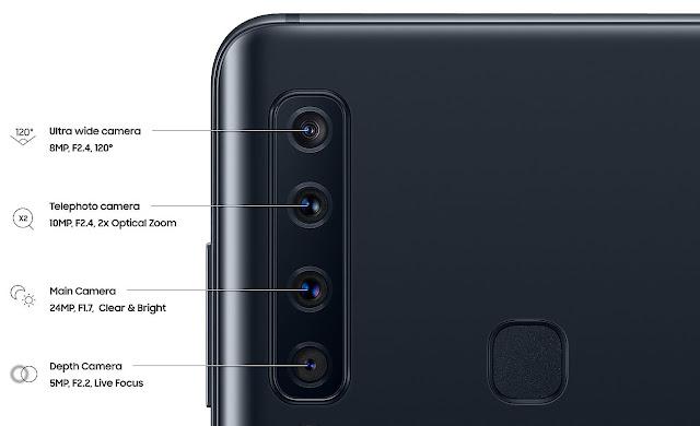 Samsung Galaxy A9 Resmi Meluncur,  Dengan Gebrakan Smartphone 4 Kamera Belakang Pertama di Dunia