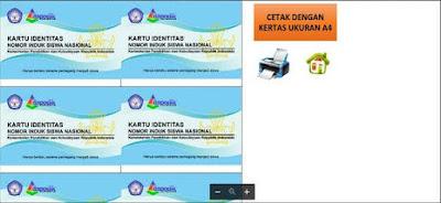 Download Aplikasi Cetak Kartu NISN SD Excel 2017