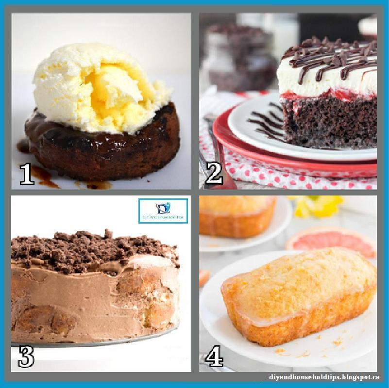DIY And Household Tips: 4 Easy And Yummy Cake Recipes