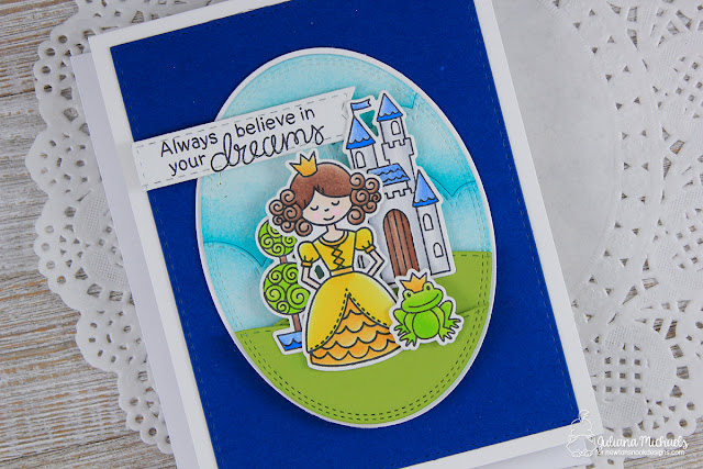 Always Believe Princess Card by Juliana Michaels featuring Newton's Nook Designs Once Upon A Princess Stamp Set