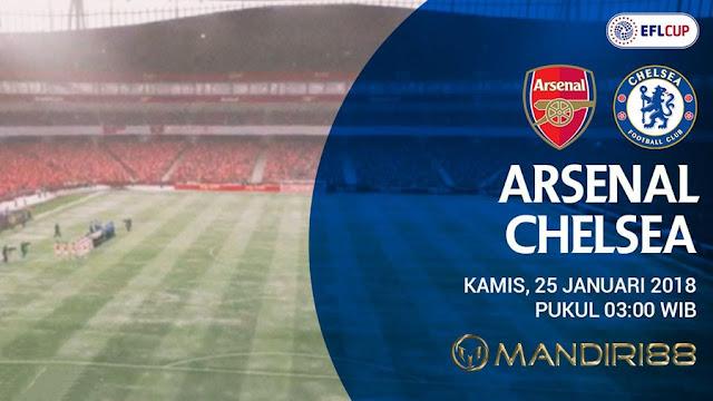 Prediksi Arsenal Vs Chelsea , Kamis 25 January 2018 Pukul 03.00 WIB @ Indosiar