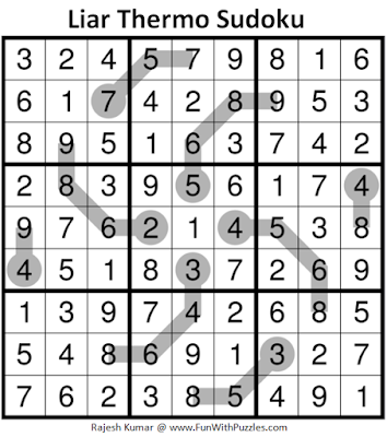 Liar Thermometer Sudoku (Daily Sudoku League #188) Solution