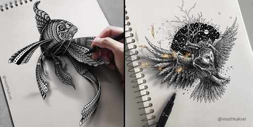 00-Visoth-Kakvei-Intricate-Doodles-that-include-Optical-Illusions-www-designstack-co