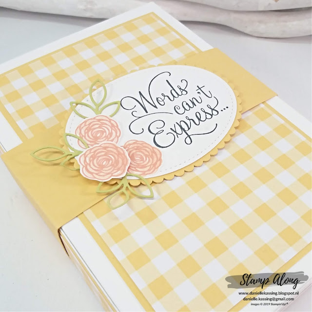 Stampin' Up! Gingham Gala DSP box  teamweekend