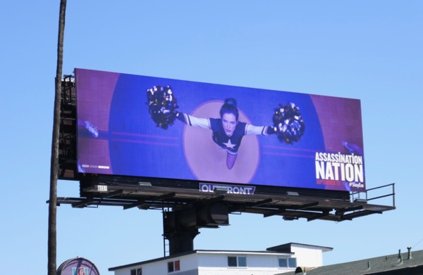 Assassination Nation cheerleader billboard