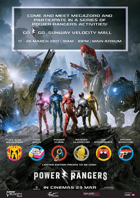 power rangers roadshow malaysia poster go go sunway velocity mall
