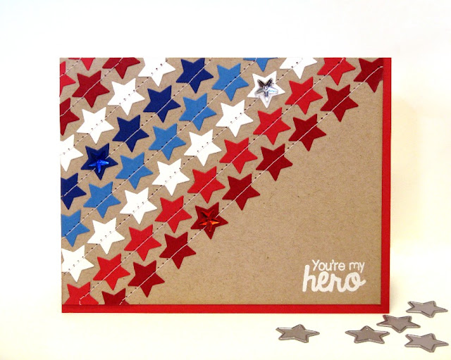 Sunny Studio Stamps: Stars & Stripes You're My Hero Memorial Day Card by Mendi Yoshikawa
