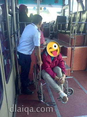 di dalam bus menuju ke pesawat
