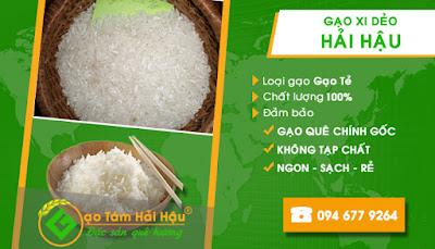 Đại lý bán buôn, bán lẻ gạo quê sạch - Xi dẻo Hải Hậu Nam Định