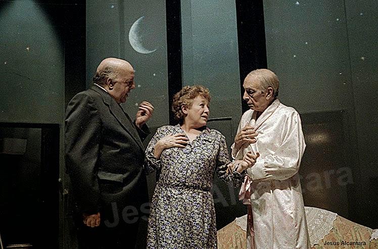 Fernando Delgado, Amparo Baró y José María Rodero.Fotografía: Jesus Alcantara