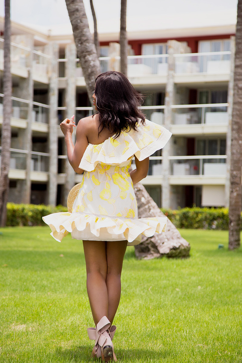 rebecca taylor ella fil coupe one-shoulder dress, punta cana, dominican republic, www.jadore-fashion.com