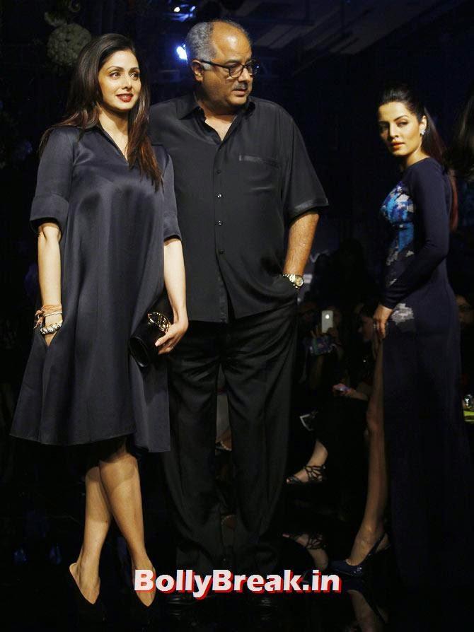 Sridevi and Boney Kapoor and Celina Jaitly too, LFW 2014 Pics  - Lakme Fashion Week 2014 Photo Gallery