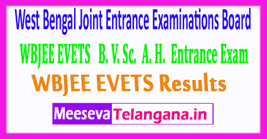 West Bengal Joint Entrance Examination Board WBJEE EVETS Results 2017
