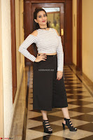 Manjusha in sleevelss crop top and black skirt at Darshakudu pre release ~  Exclusive Celebrities Galleries 054.JPG