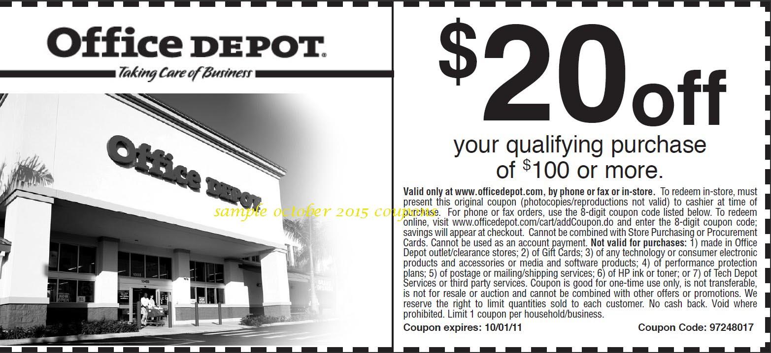 Office depot coupon code