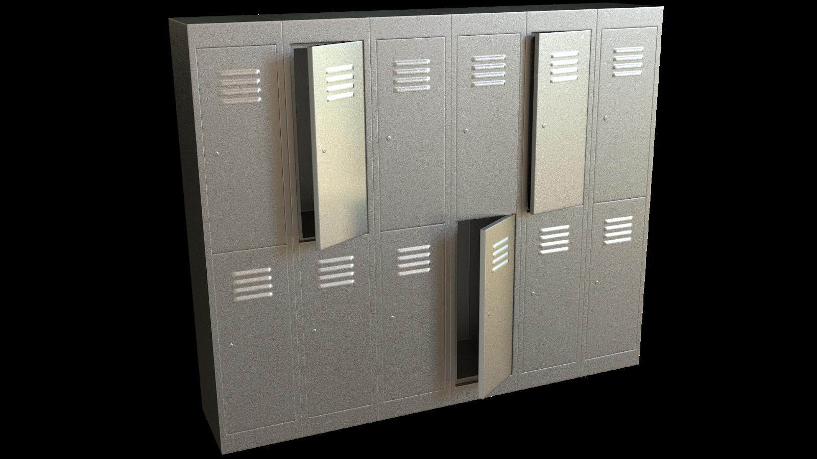 Free 3D Steel Locker CC0 3DS - Free 3D Models Under Public Domain