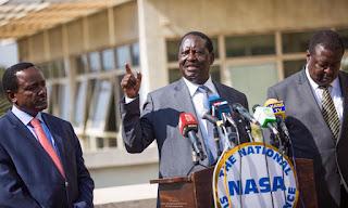 Raila Odinga with his co- NASA principles. PHOTO | Courtesy RAO