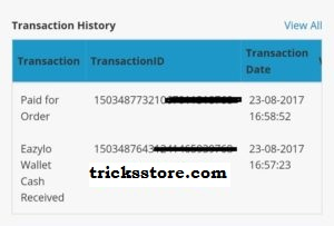 payment proof of eazylo free mobile recharge