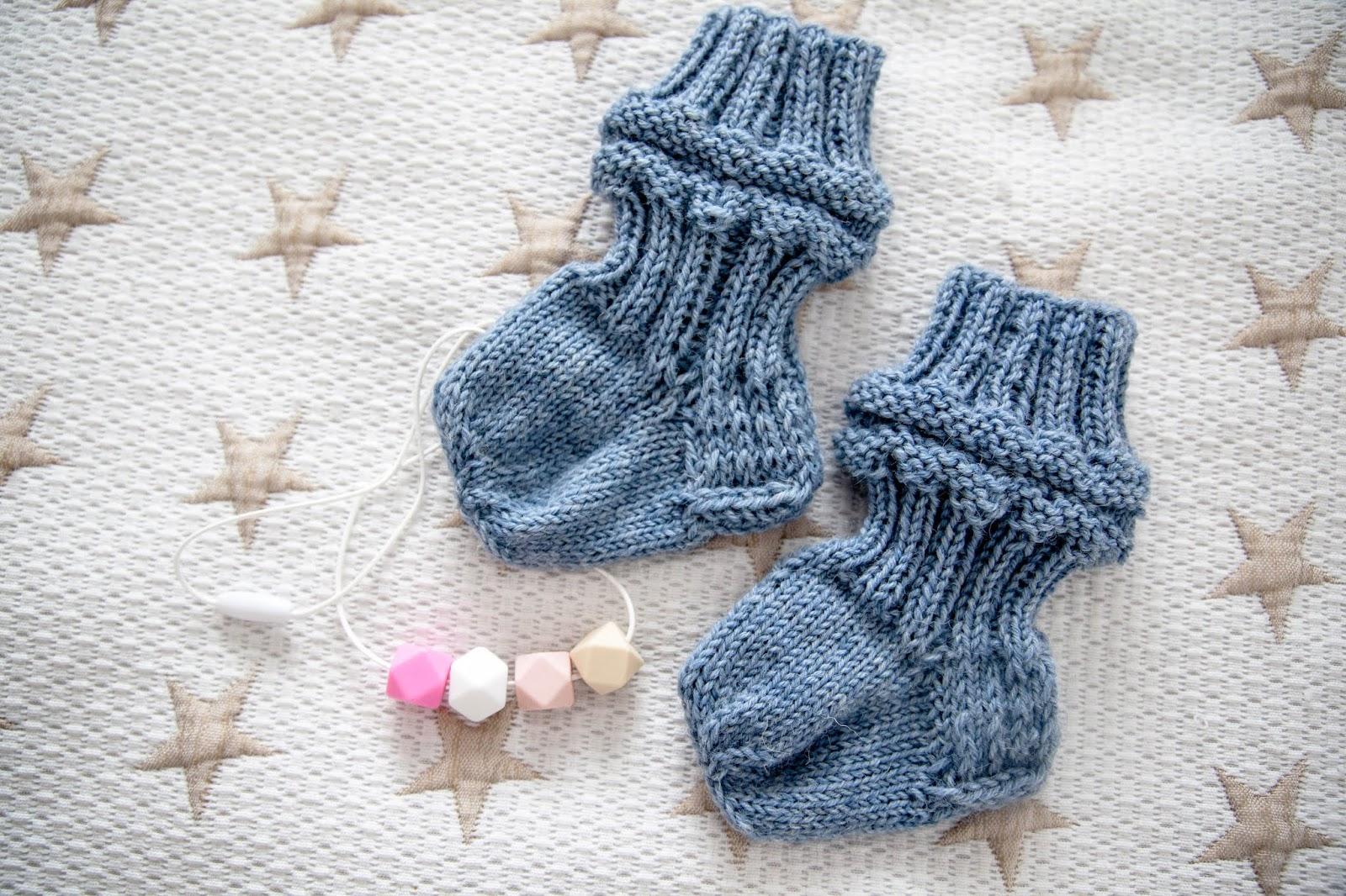 käsityöt vauvalle villasukka