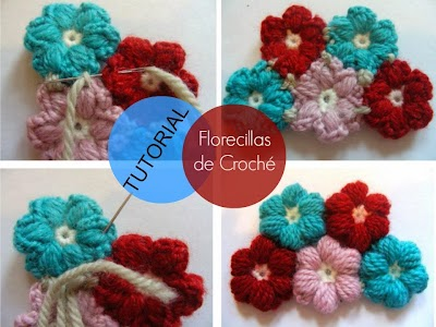Tutorial Paso a Paso Florecillas de Crochet