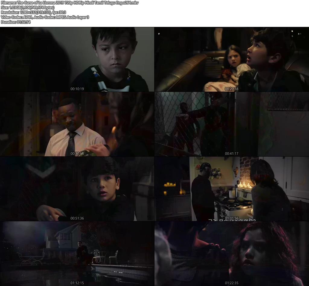 The Curse of La Llorona 2019 720p HDRip Hindi Tamil Telugu Eng x264 | 480p 300MB | 100MB HEVC Screenshot