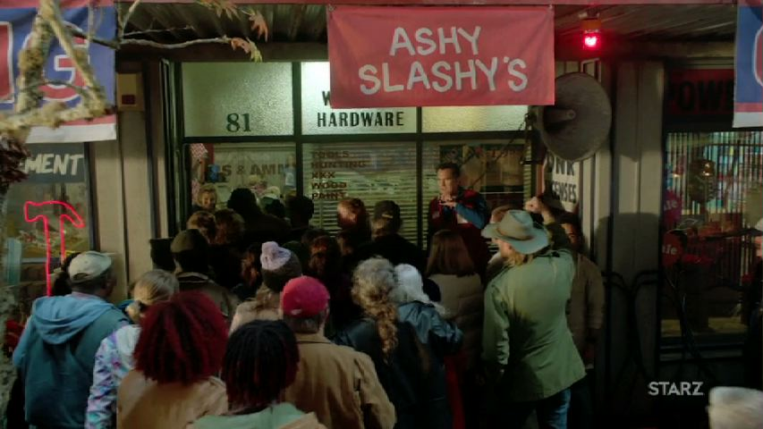 What do you do with an annoying nickname? You claim it for the name of your  new hardware store: Ashy Slashy's Hardware Store and Sex Toy Emporium.