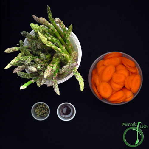 Morsels of Life - Sesame Asparagus with Carrots Step 1 - Gather all materials.