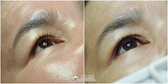 Ivy Brow Design Inner Eyeliner Tattoo Before and After - Right Eye