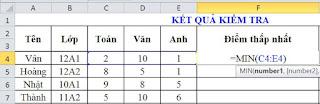 tinhoccoban.net - Hàm Min trong Excel