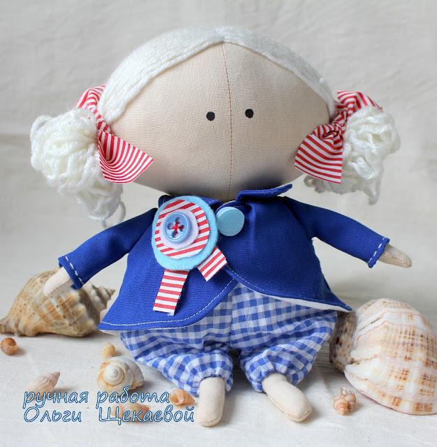 кукла, тильда, морячка, игрушка ручной работы