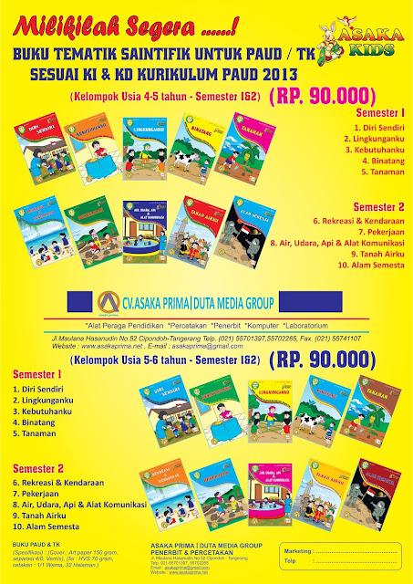 Jual buku paud murah, majalah tk, playgroup, dan buku anak, klik disini untuk promo ... Grosir Buku Paud dan TK ~ Penerbit Asaka Prima