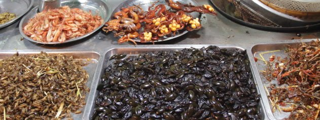 Insects, scorpions, snakes and exotic food galore at the markets of Phnom Penh, Cambodia