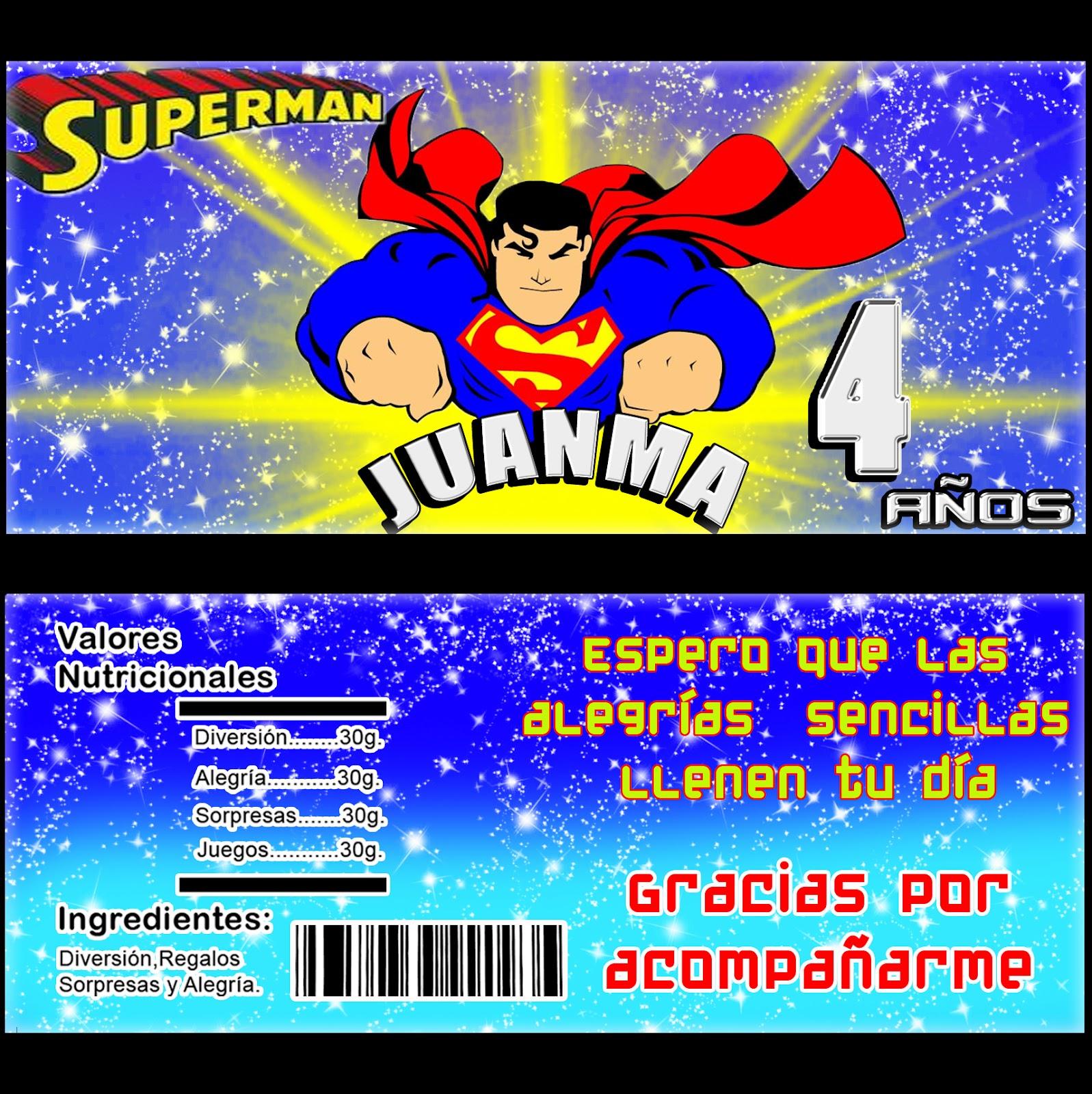 Tarjetas De Invitación De Cumpleaños Superman Imagui