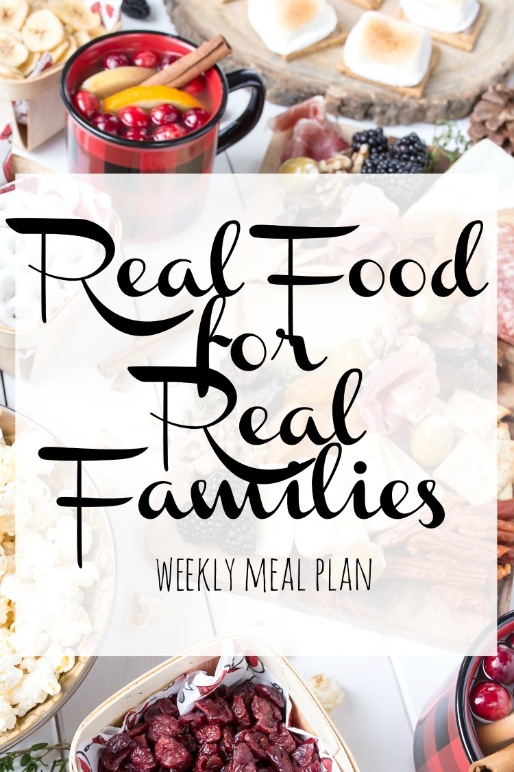 Weekly Family Meal Plan 2017 Week 49