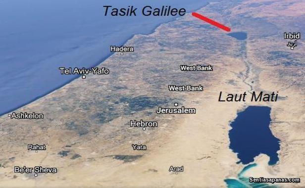 Tasik Galilee Surut Airnya