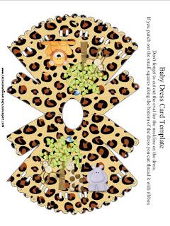 Invitación en forma de camisón de La Selva de Juguete.