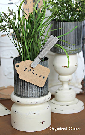 Thrift Shop Candle Holder Repurpose
