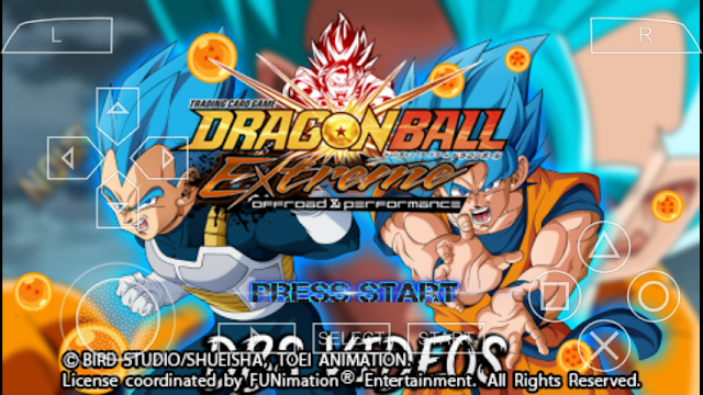 DRAGON BALL EXTREME PPSSPP ANDROID