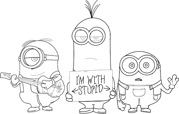 Download Coloring Pages Minions Coloring Pages Minions Coloring Pages  Futpal Pictures Minions Coloring Pages